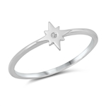 Silver CZ Ring - Twinkle Star - $2.79