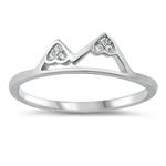 Silver CZ Ring - Mountains - $3.10