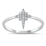 Silver CZ Ring - Twinkling Star - $3.75