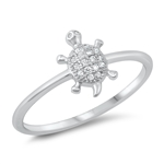 Silver CZ Ring - Turtle - $3.38