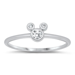 Silver CZ Ring - Mouse - Start $3.39