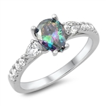 Silver CZ Ring - Pear Shape - $6.88