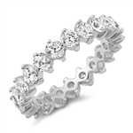 Silver CZ Ring - Eternity Band - $9.58