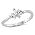 Silver CZ Ring - Marquise - $4.48