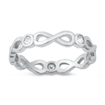 Silver CZ Ring - Infinity Band - $4.64