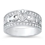 Silver CZ Ring - Claddagh - $7.99