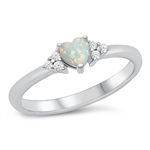 Silver CZ Ring - Heart - $5.25