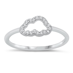 Silver CZ Ring  - Cloud - $4.83