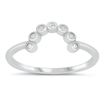 Silver CZ Ring - $4.35