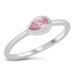 Silver CZ Ring - Pear - $4.39