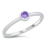 Silver CZ Ring - Little Solitaire - $4.39