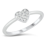 Silver CZ Ring - Heart - $4.33