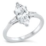 Silver CZ Ring - Marquise - $6.17