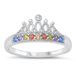 Silver CZ Ring - Crown - $6.95