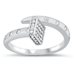 Silver CZ Ring - Pave Nail - $9.45