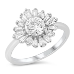 Silver CZ Ring - Vintage Style - $7.8