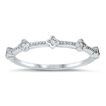 Silver CZ Ring - $4.2