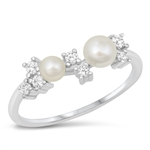 Silver CZ Ring - Pearl - $4.91