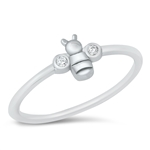 Silver CZ Ring - Bumble Bee - $4.09