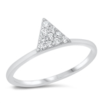 Silver CZ Ring - Triangle - $4.38