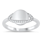Silver CZ Ring - Saturn - Start $6.19