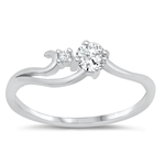 Silver CZ Ring - $4.34