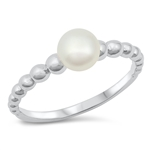 Silver CZ Ring - Pearl - $5.02