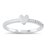Silver CZ Ring - Heart - $4.60