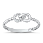 Silver CZ Ring - Infinity - $4.58
