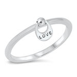 Silver CZ Ring - Love - $4.32