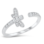 Silver CZ Ring - Dragonfly - $4.99