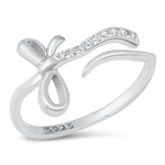 Silver CZ Ring - Bow - $4.97