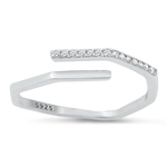 Silver CZ Ring - $4.60