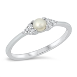 Silver CZ Ring - Pearl - $4.83
