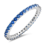 Silver Ring / Light Sapphire CZ  - $4.89