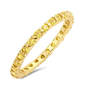 Silver Ring W/ YelloW CZ - $3.29 Sale!