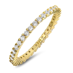Silver CZ Ring - Gold Plated - $4.45
