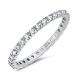 Silver Ring Clear CZ - $3.59