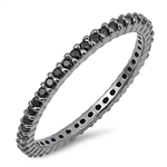Silver Ring W/ Black CZ - $4.36