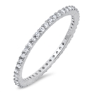 Silver Ring W/ Clear CZ - $4.05