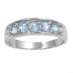 Silver Baby Ring W/ CZ - $4.28