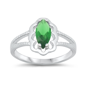 Silver CZ Baby Ring - $3.62