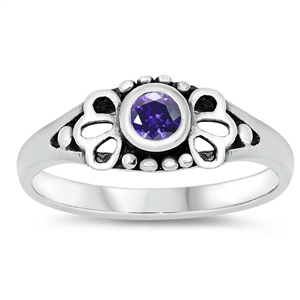 Silver Baby Ring W/ CZ - $3.99