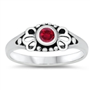 Silver Baby Ring W/ CZ  -  $3.63