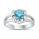 Silver CZ Baby Ring - Heart - $3.89