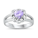 Silver CZ Ring - Baby Ring