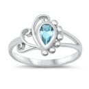 Silver Baby Ring w/ CZ  -  $4.01