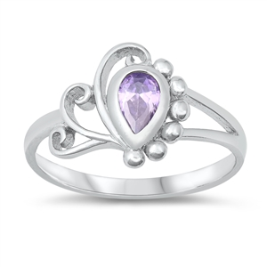 Silver Baby Ring w/ CZ - $4.41