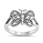 Silver Baby Ring - Butterfly - $2.69
