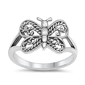 Silver Baby Ring - Butterfly - $3.28